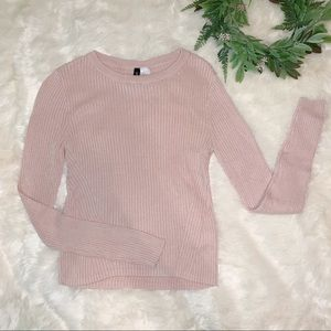 Divided | H&M Pink Cropped Sweater